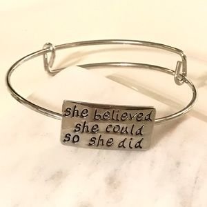 Jewelry - She believed she could, so she did bracelet